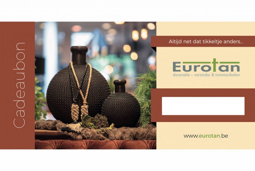 cadeaubon, eurotan, decoratie, meubelen,, tuinmeubelen
